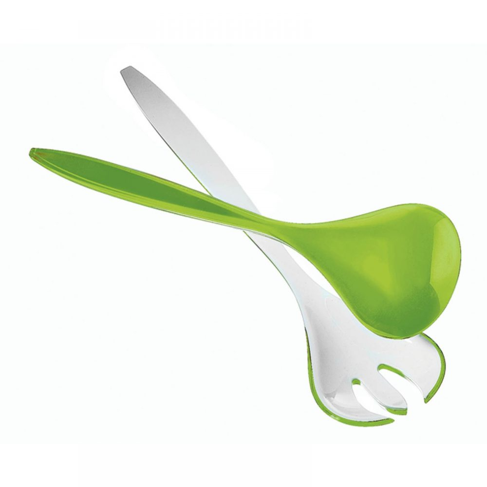Guzzini salad servers light green
