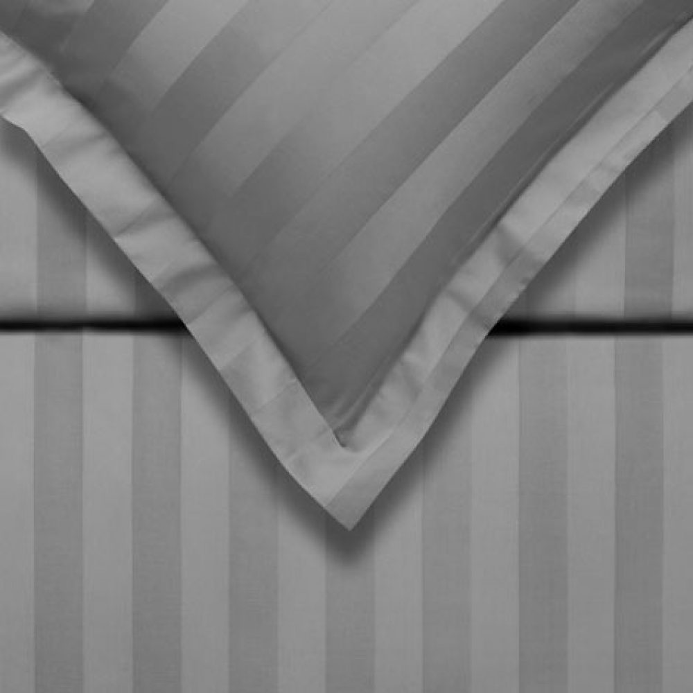 Purity Satin Stripe Grey Double Package-0