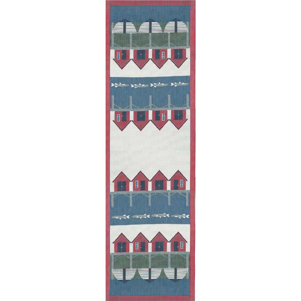 Beach hut table runner