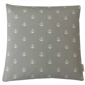 grey anchors nautical cushion
