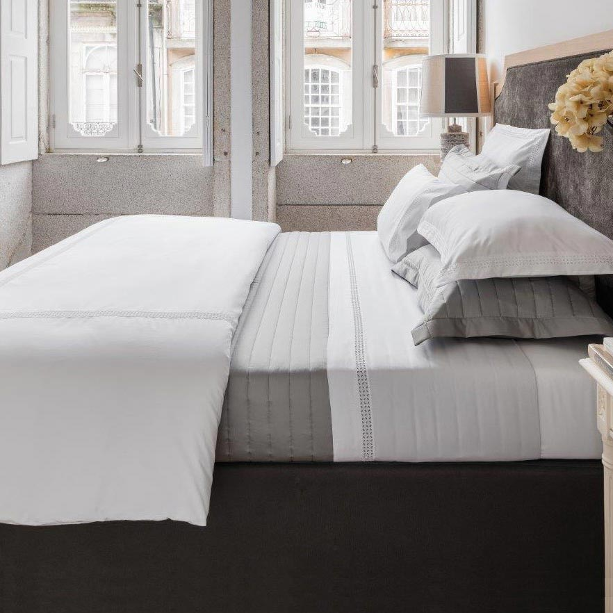 mirage grey custom boat bedding from nauteriors