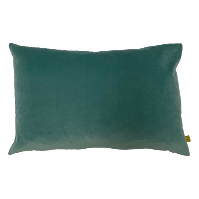 Teal Velvet Rectangular Cushion