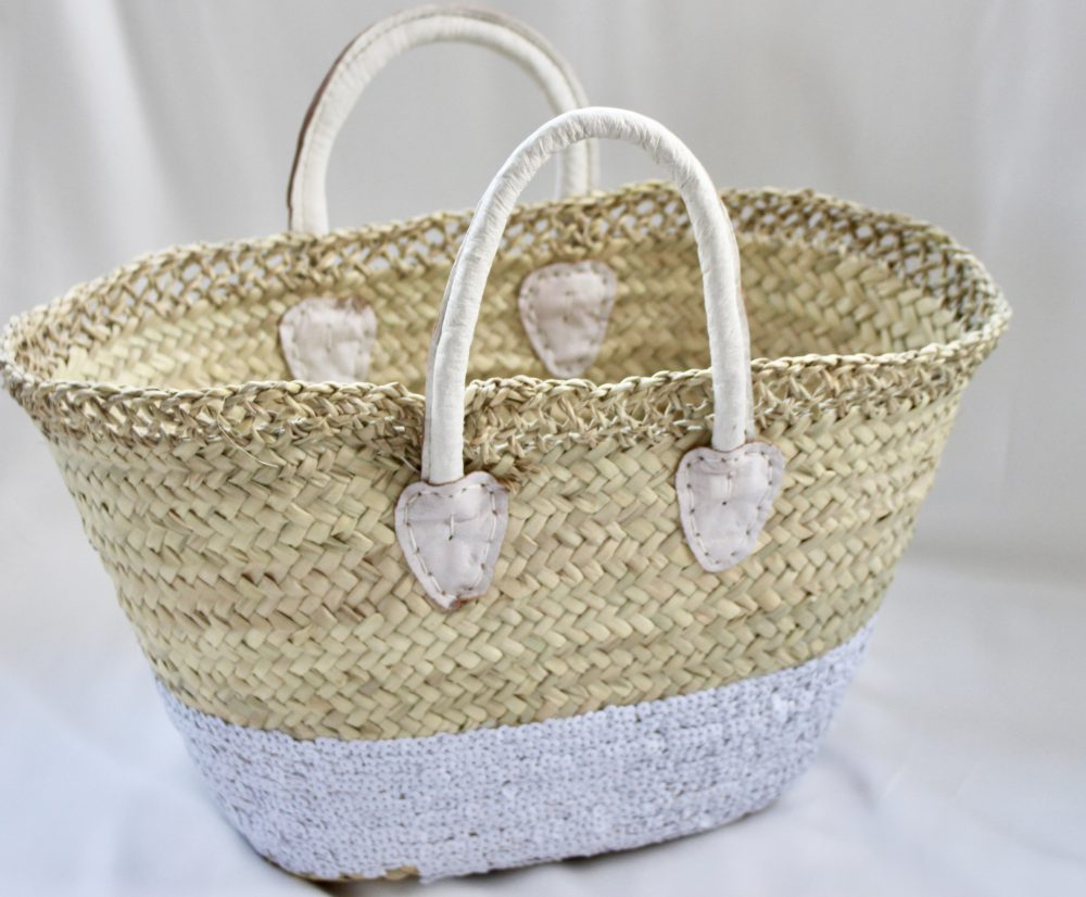 White Sequin Basket